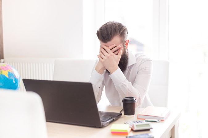 Empresario deprimido