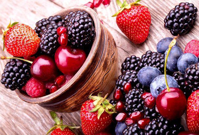 Los frutos rojos contienen un elevado número de vitaminas y minerales