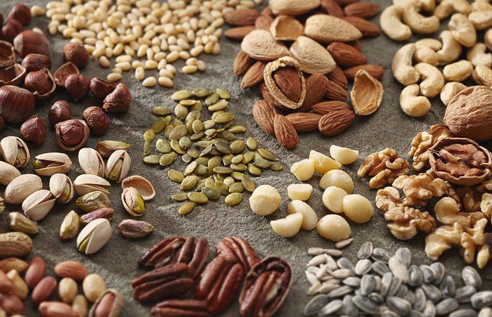 El calcio también está presente en los frutos secos
