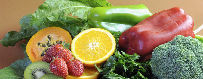 frutas y verduras con mucha vitamina c