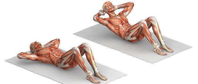 Cuando hacemos abdominales las lumbarez quedan pegadas en el suelo