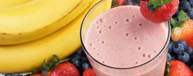 Los batidos de fresa son buenos para combatir la celulitis