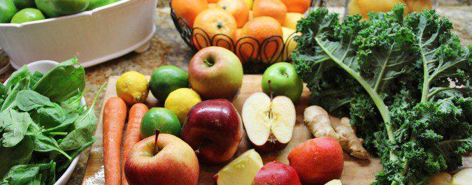 Las frutas y verduras son ricos en carbohidratos y pocas calorías
