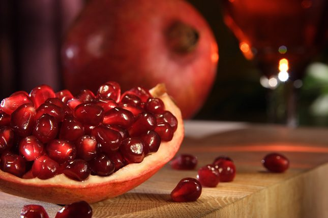La granada tiene numerosas propiedades antioxidantes