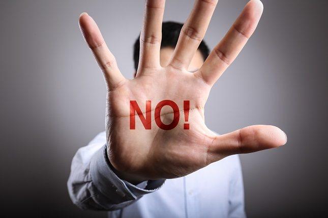 No importa cuando sea, pero si dices que sí cuando quieres decir que no, entonces estás perjudicando tu salud