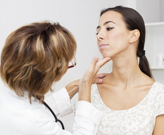Los nódulos tiroideos se forman en la tiroides y aparecen con frecuencia