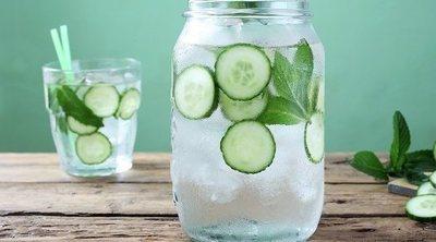 El agua de pepino para tratar la retención de líquidos